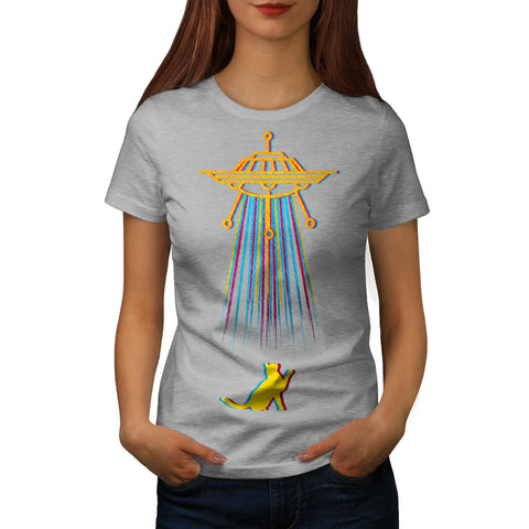 Color Cat Abduction Womens T-Shirt