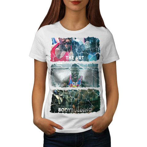 Bodybuilding Man Art Womens T-Shirt