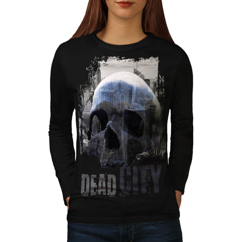 Dead City Ruin View Womens Long Sleeve T-Shirt