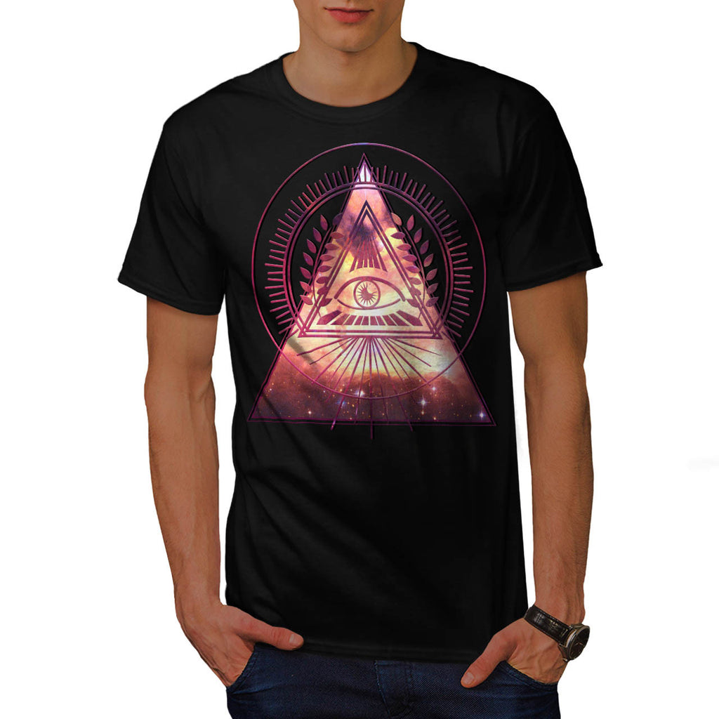 Illuminati Galaxy Mens T-Shirt