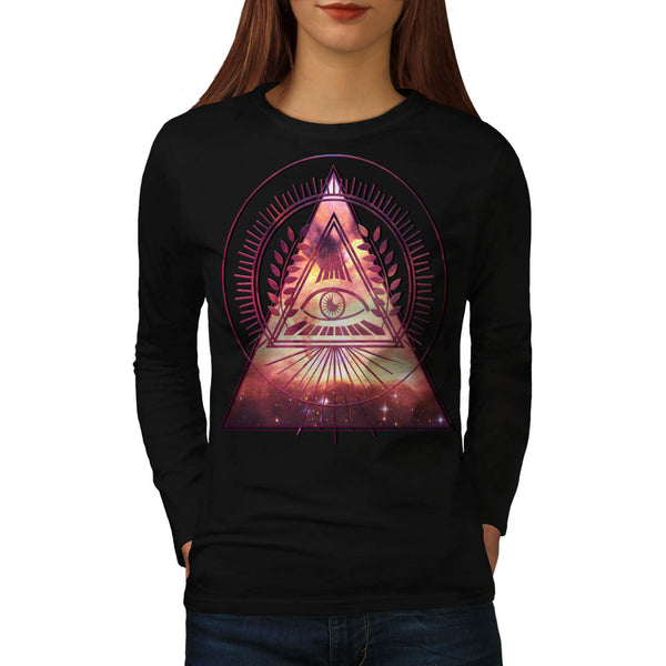 Illuminati Galaxy Womens Long Sleeve T-Shirt