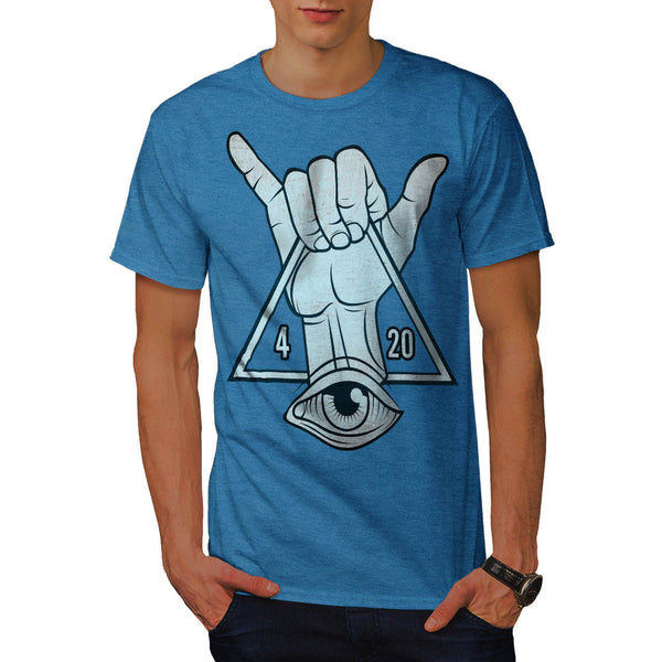Rastaman Illuminati Mens T-Shirt