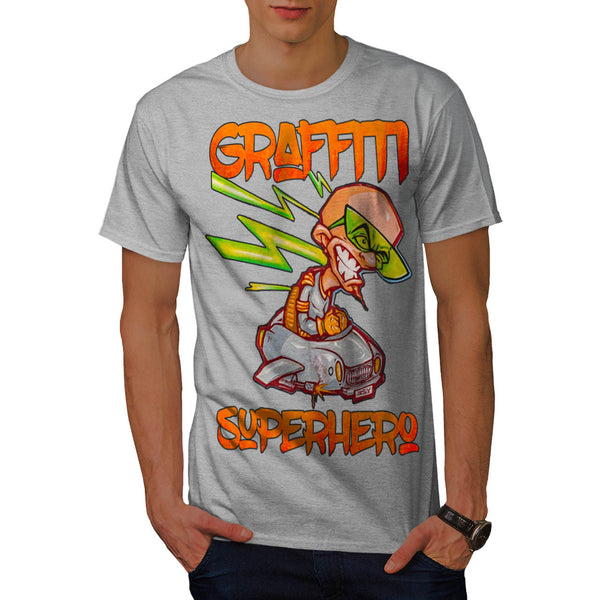 Graffiti Superhero Mens T-Shirt
