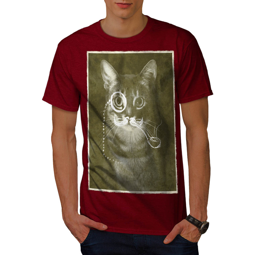 Gentleman Kitty Cat Mens T-Shirt