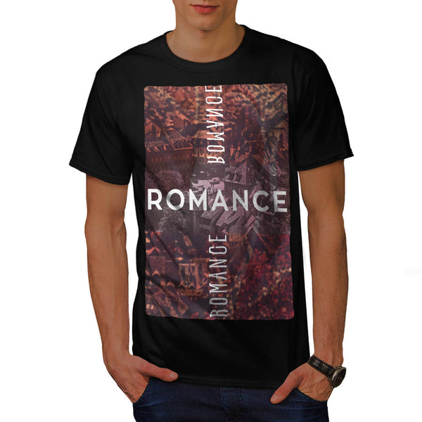 Quaint City Romance Mens T-Shirt