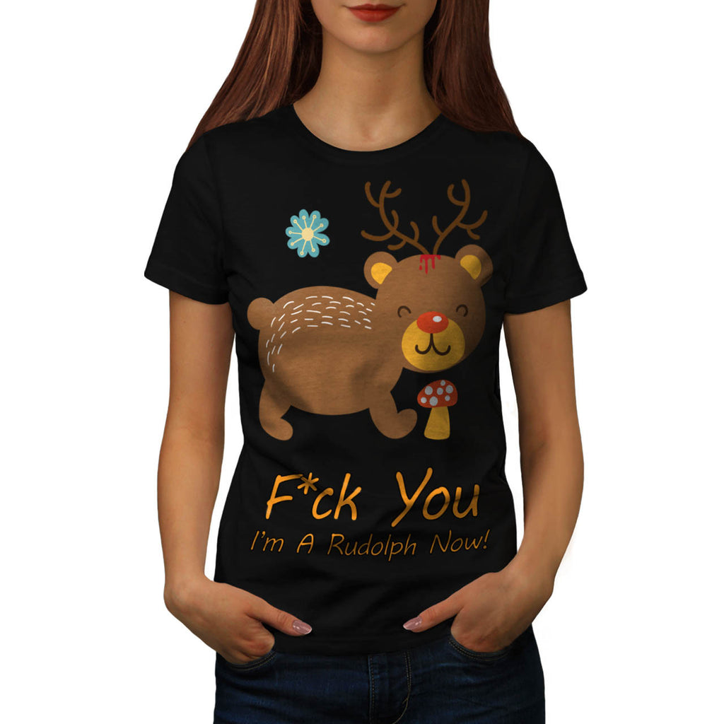 Rudolf Bear Animal Womens T-Shirt
