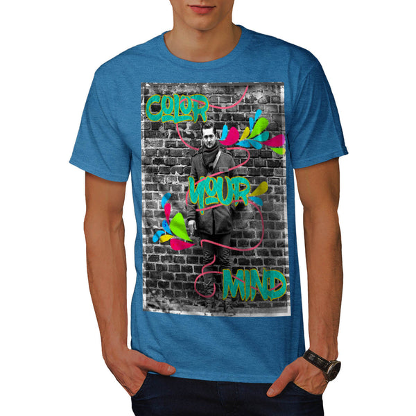 Color Your Mind Guy Mens T-Shirt