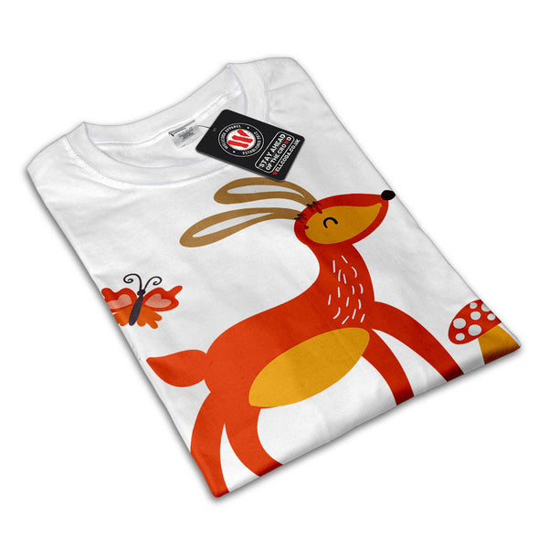 Deer Rabbit Animal Womens T-Shirt