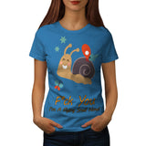 Snail Butterfly Womens T-Shirt