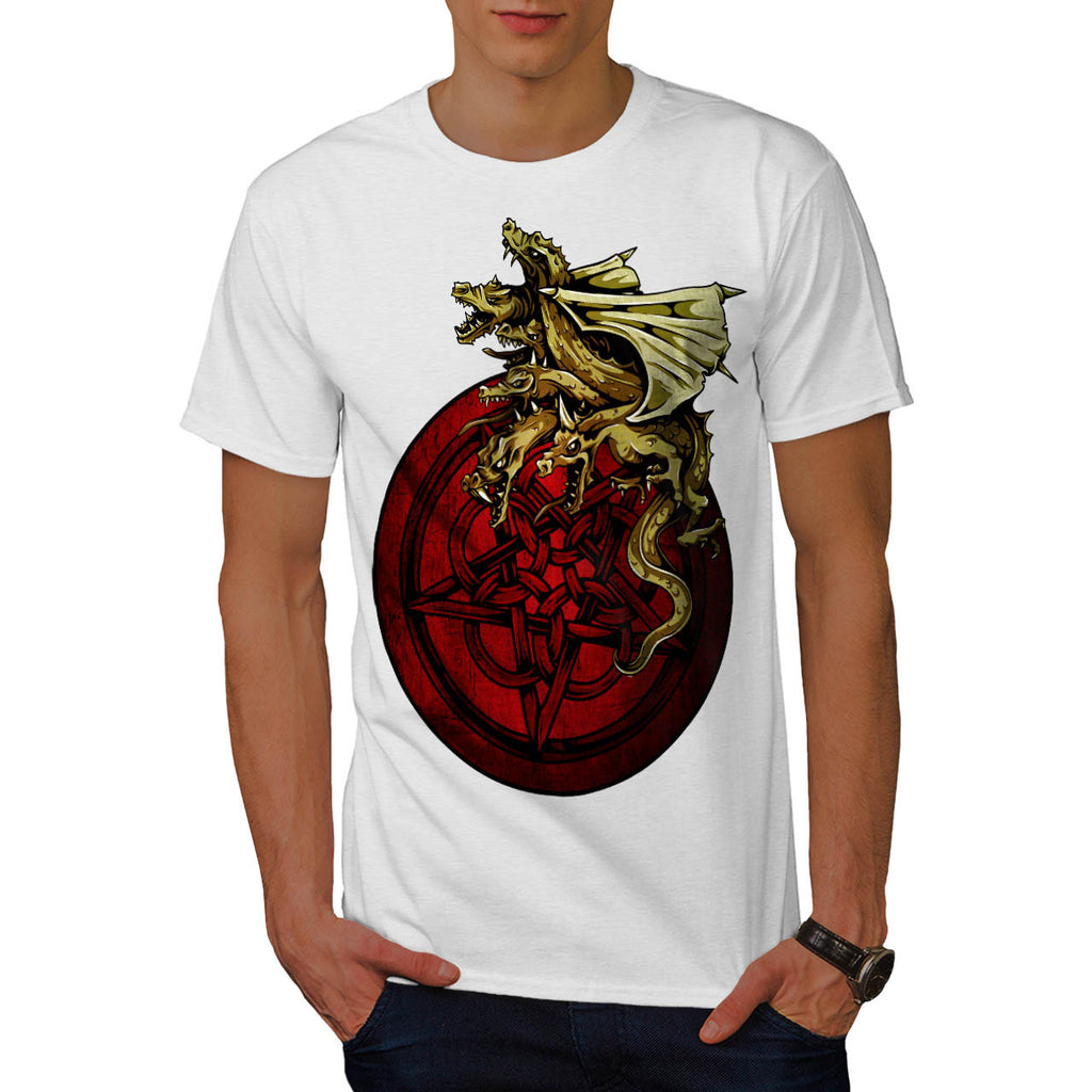 Dragon Star Symbol Mens T-Shirt