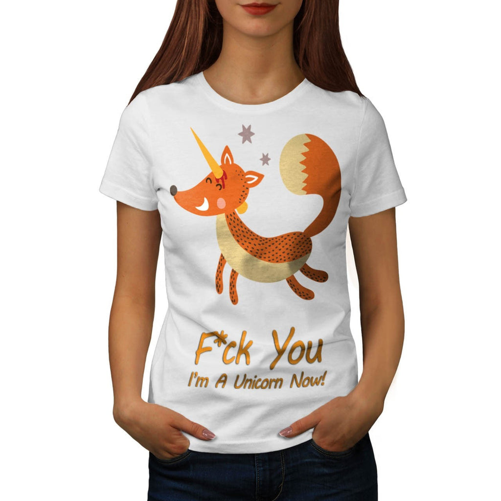 Animal Fox Unicorn Womens T-Shirt