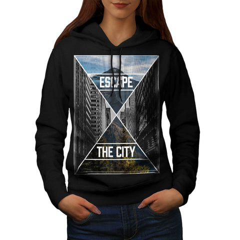 Escape The City Rest Womens Hoodie
