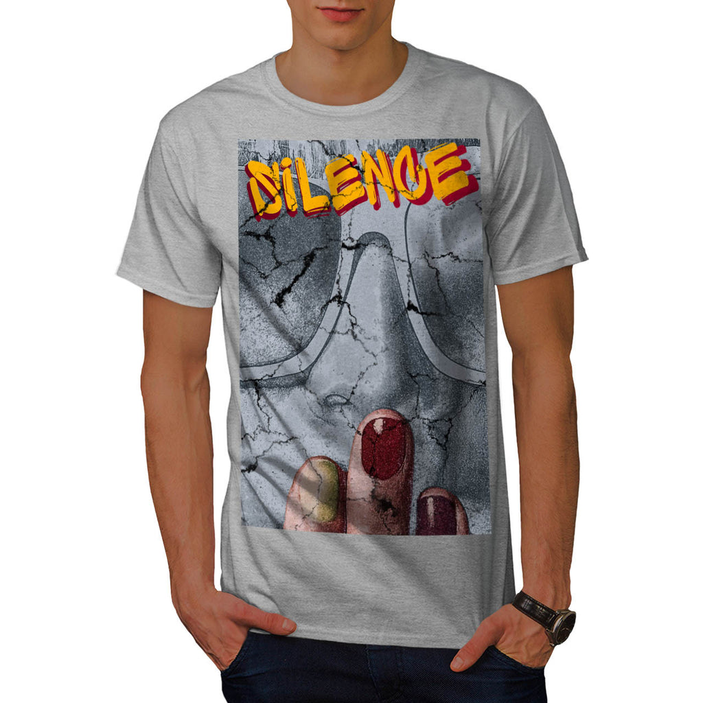 Graffiti Silence Art Mens T-Shirt