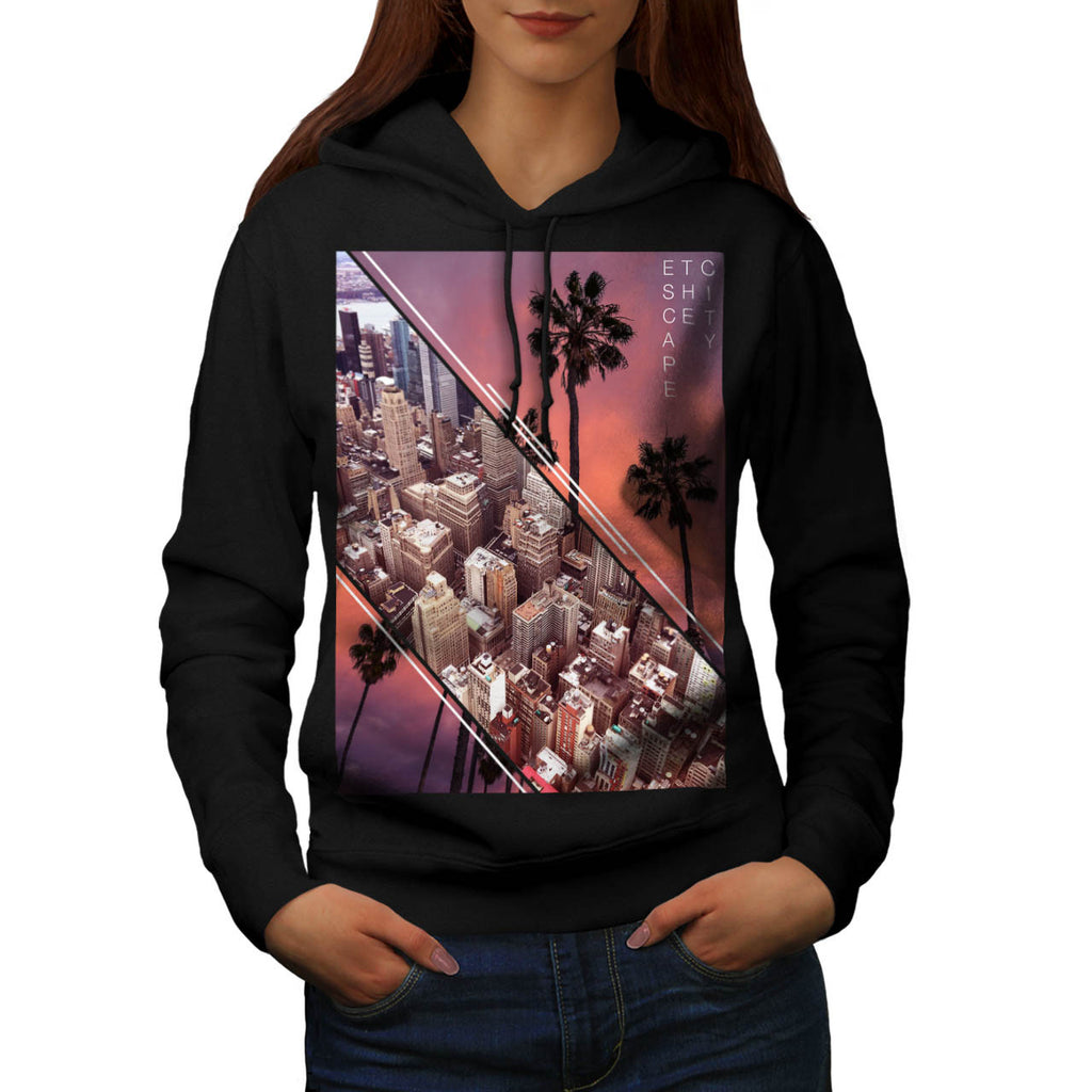 City Escape Holiday Womens Hoodie