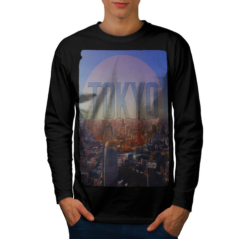 City Japan Capital Mens Long Sleeve T-Shirt