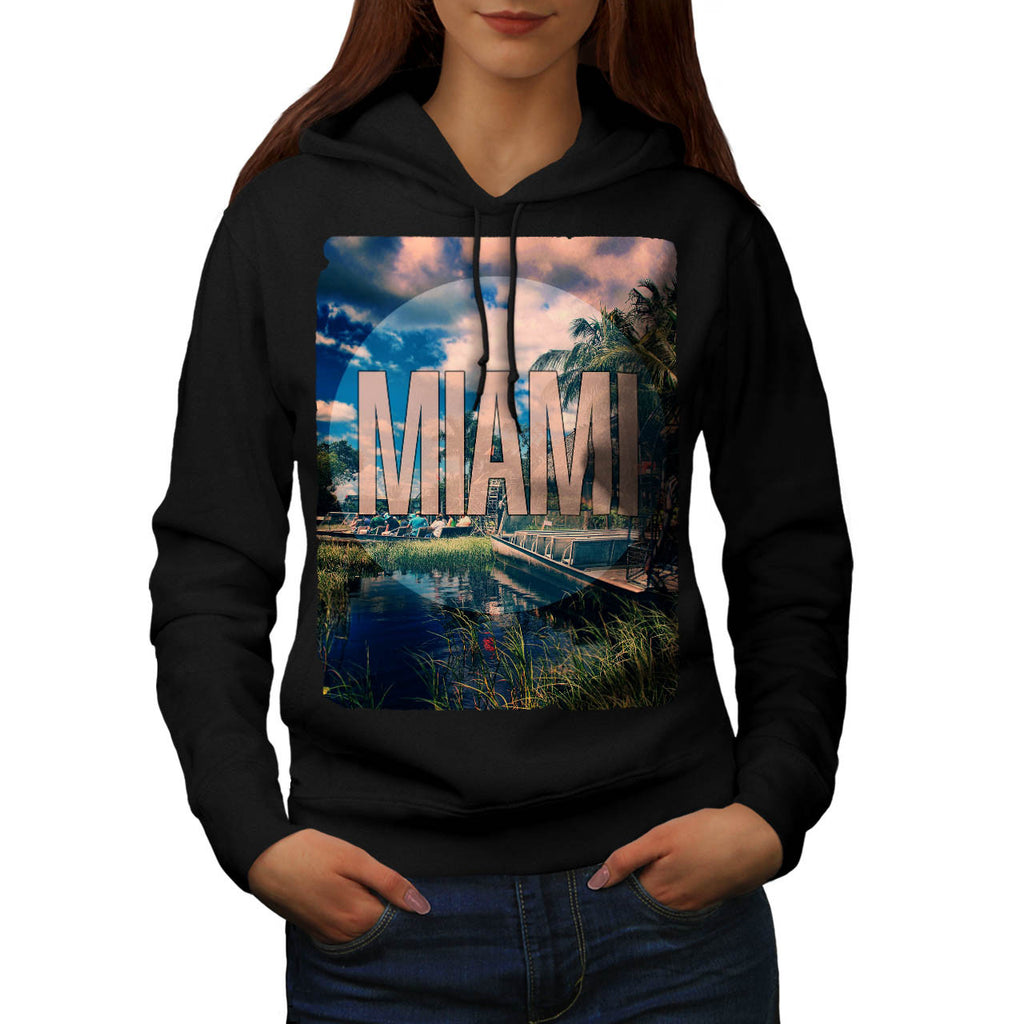 Miami City Sight Hot Womens Hoodie