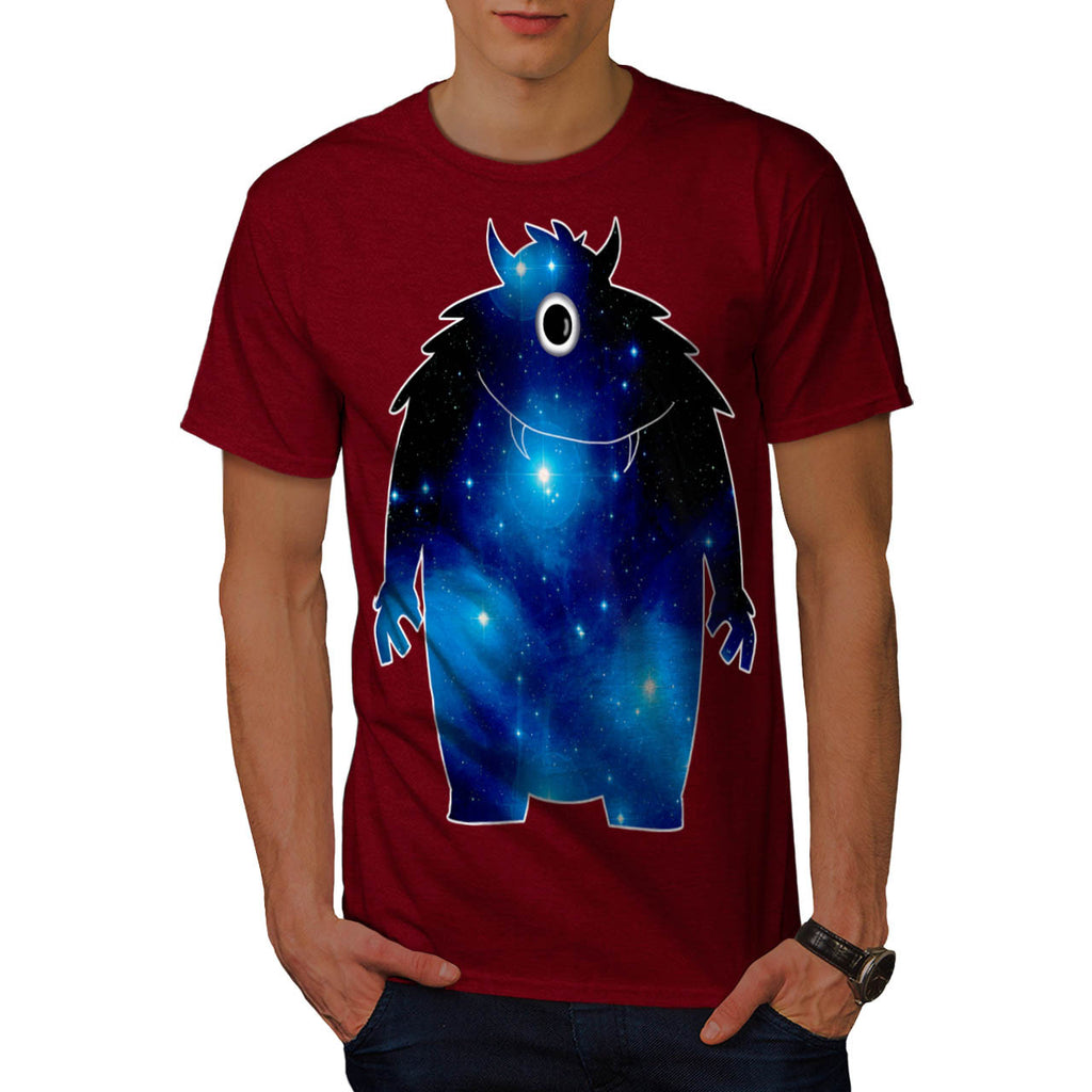 Space Monster Friend Mens T-Shirt