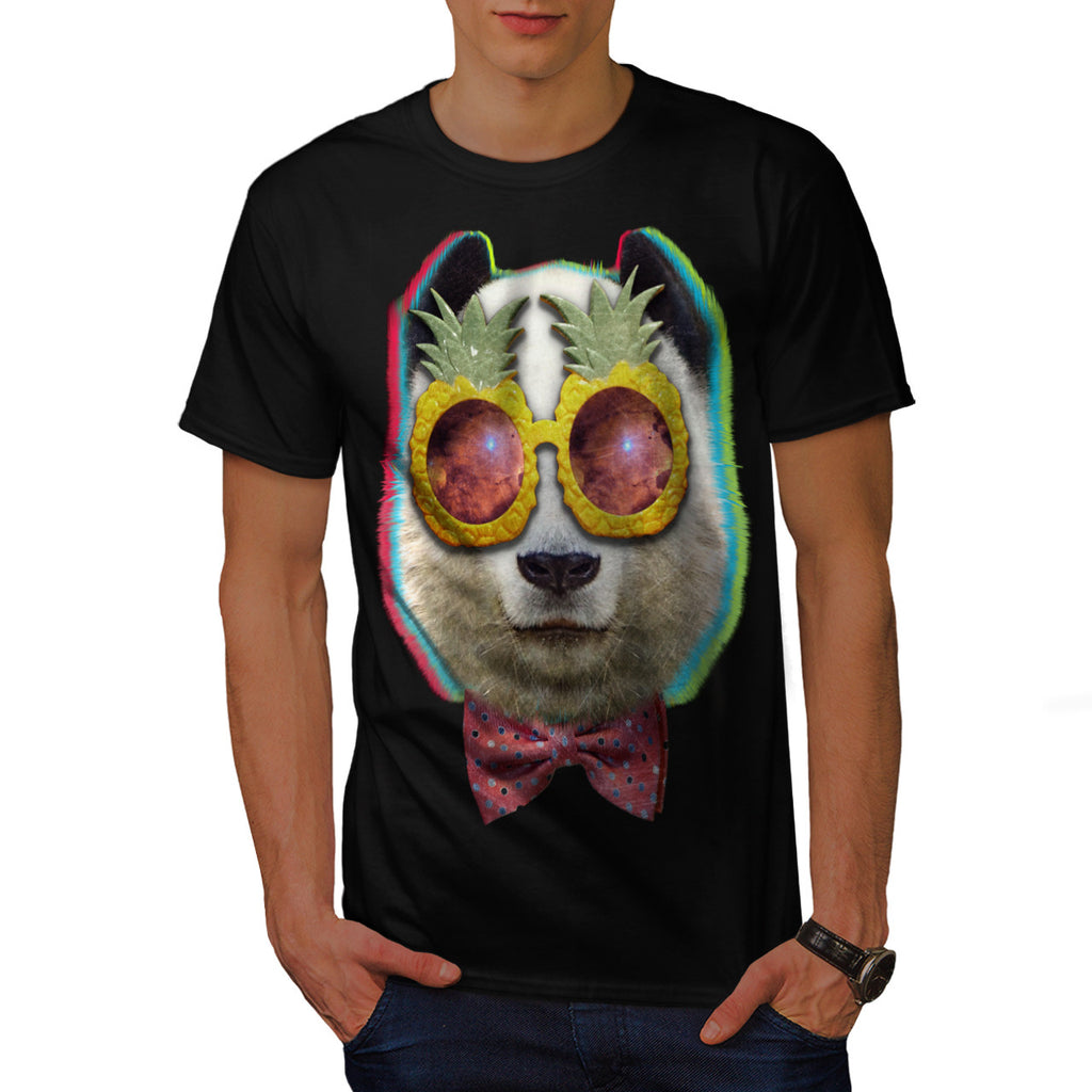 Pineapple Eye Panda Mens T-Shirt
