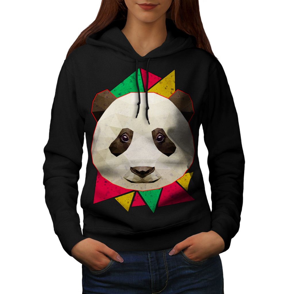 Friendly Panda Smile Womens Hoodie