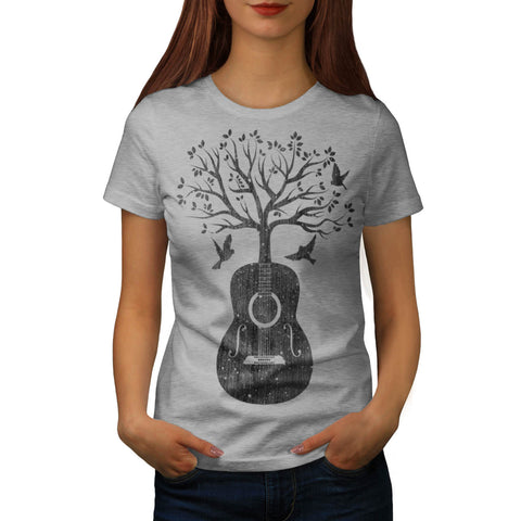 Guitar Music Tree Womens T-Shirt