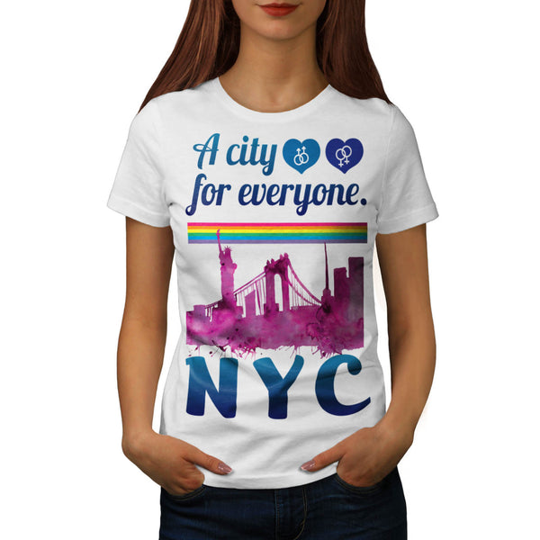 NY City For Everyone Womens T-Shirt