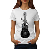 Guitar Forest Bird Womens T-Shirt