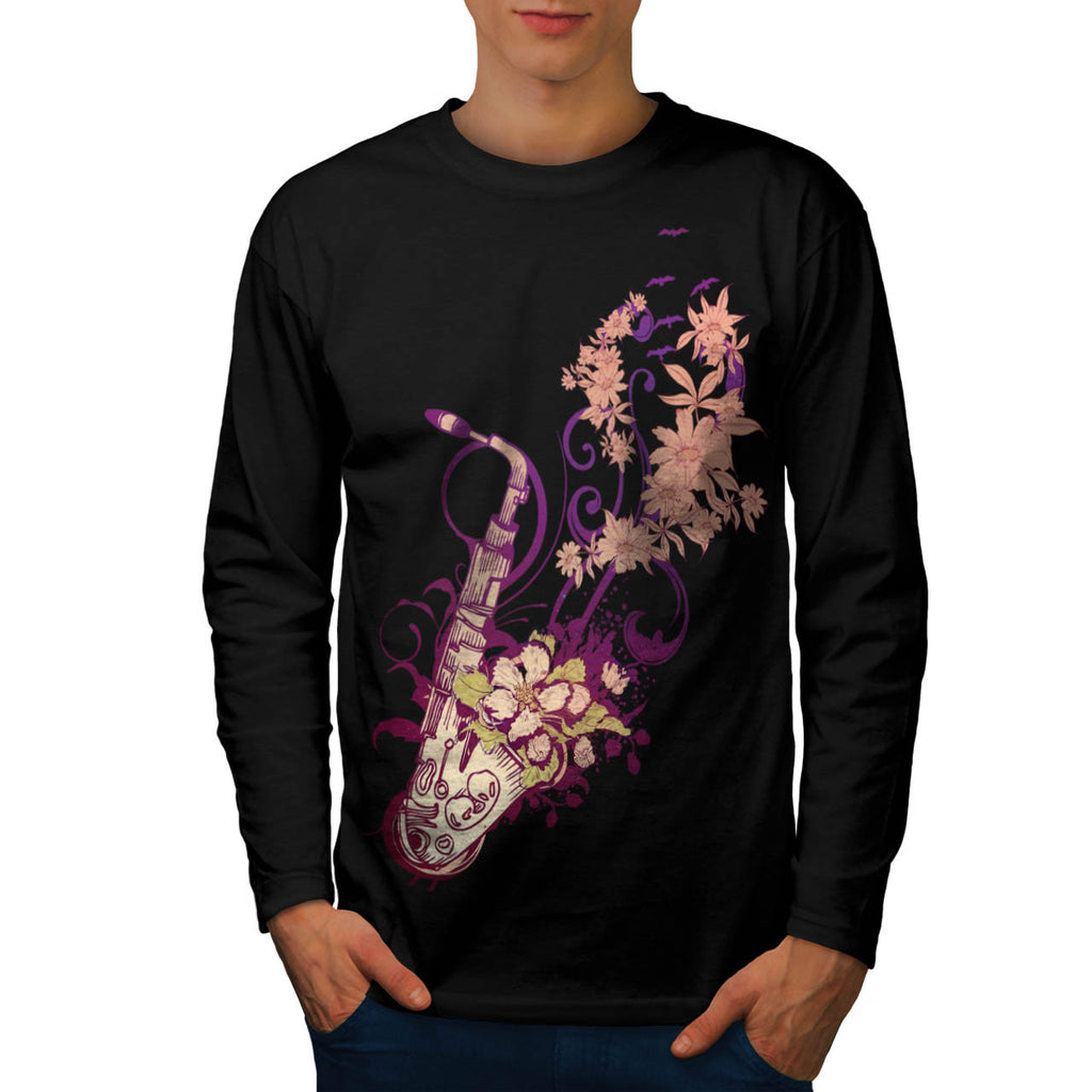 Saxophone Jazzy Tune Mens Long Sleeve T-Shirt