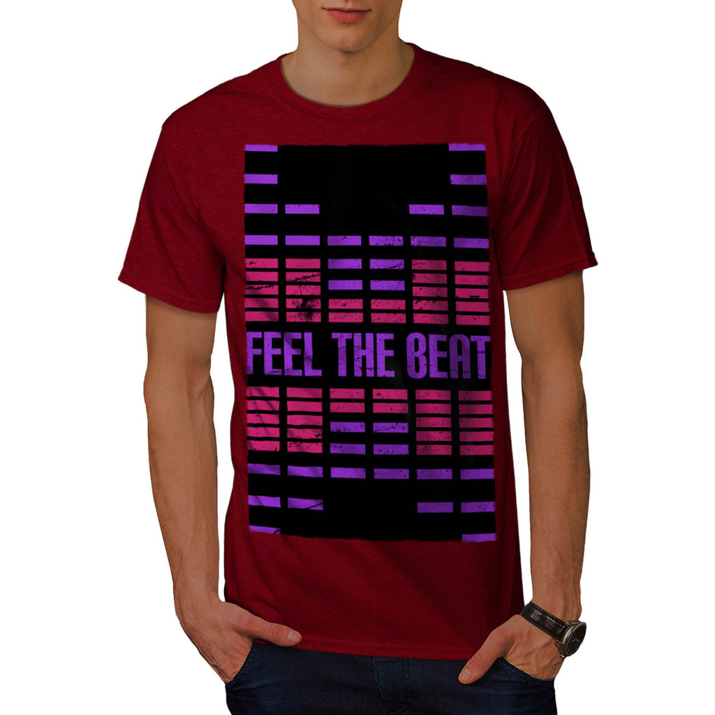 Feel The Beat Rhythm Mens T-Shirt