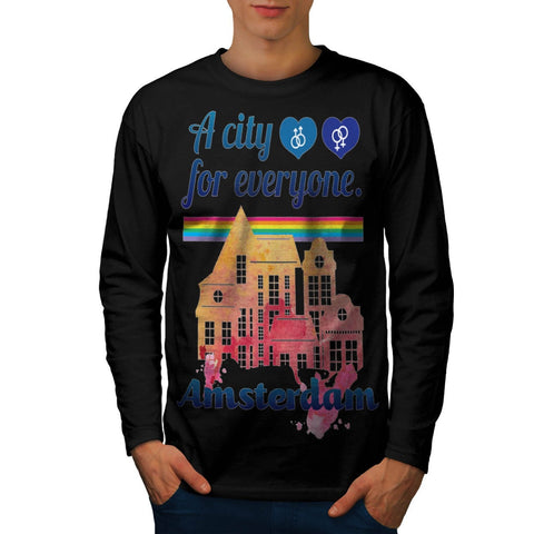 Amsterdam Everyone Mens Long Sleeve T-Shirt