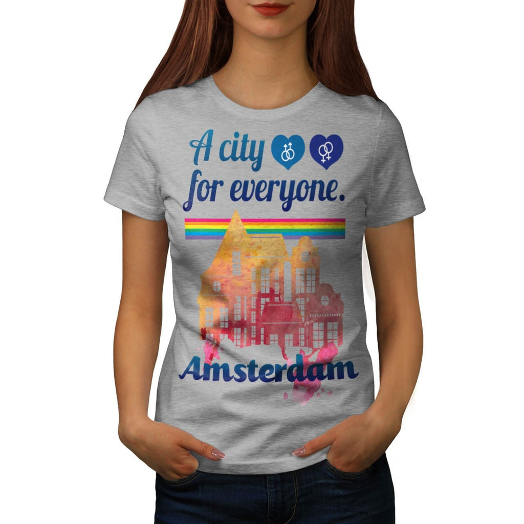 Amsterdam Everyone Womens T-Shirt