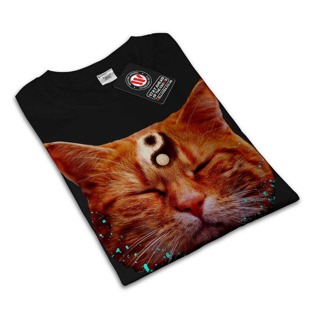 Meditation Zen Cat Mens T-Shirt