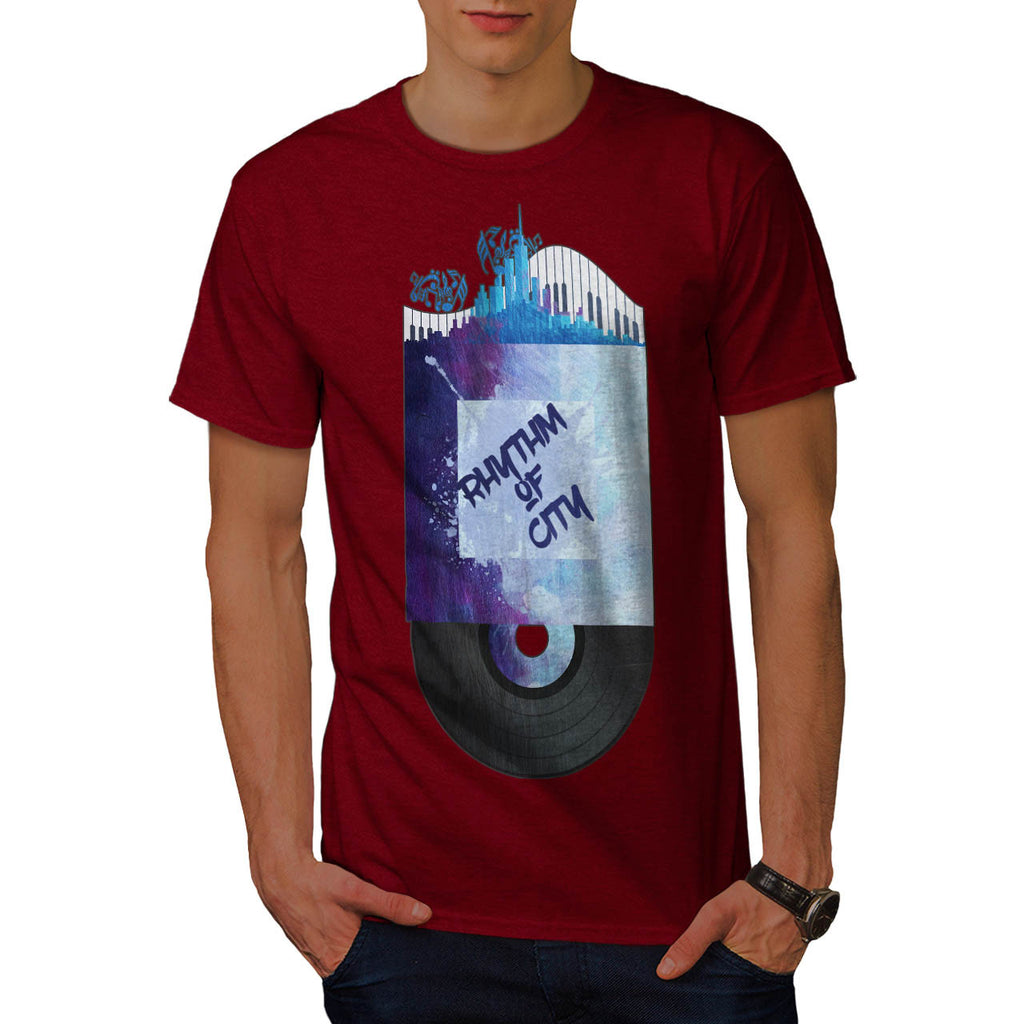 City Rhythm Record Mens T-Shirt
