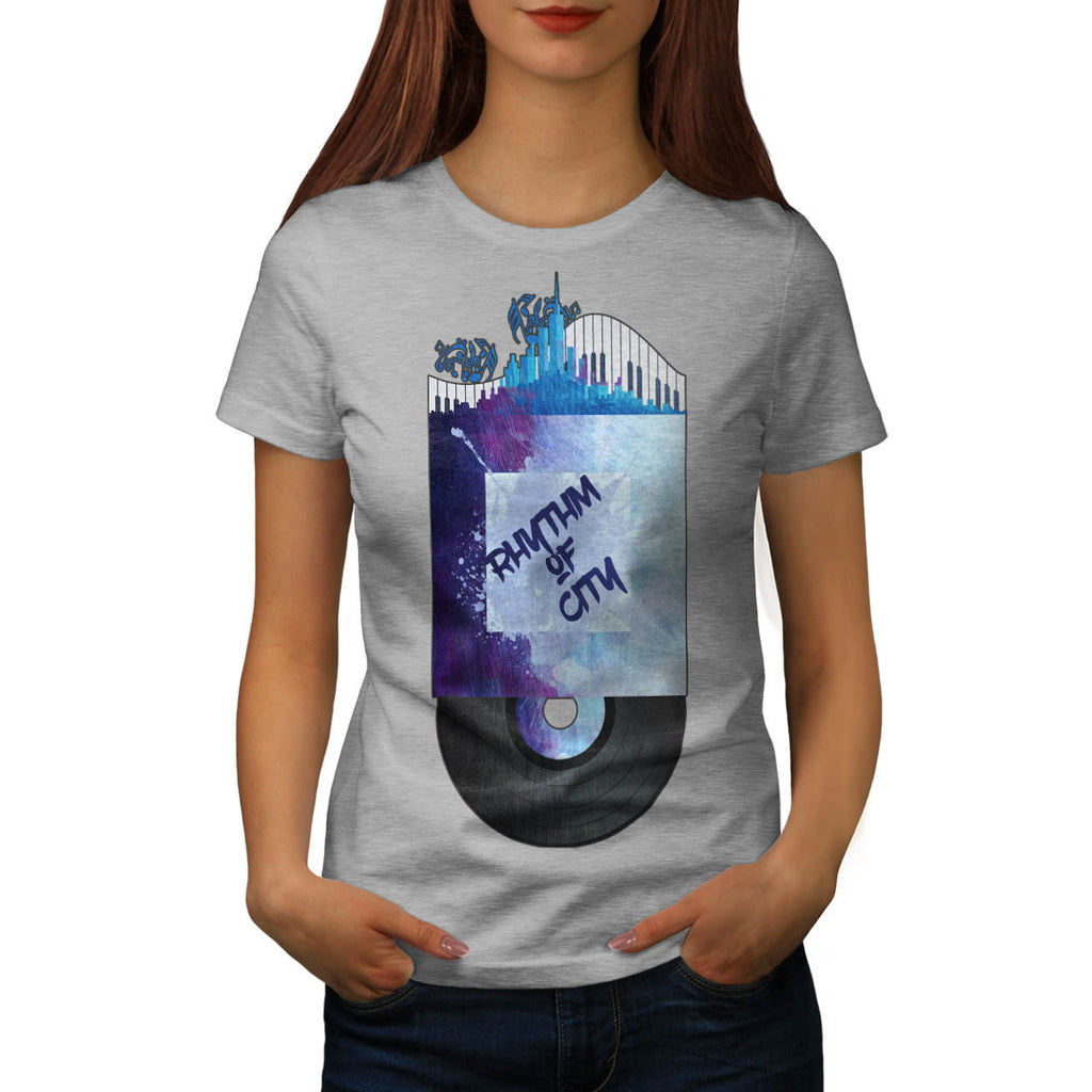 City Rhythm Record Womens T-Shirt