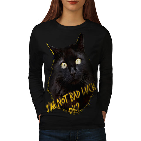 Black Is Not Bad OK Womens Long Sleeve T-Shirt