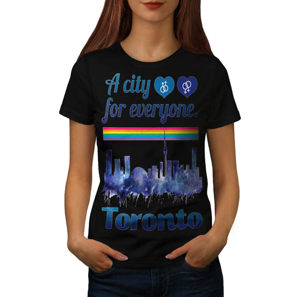 Friendly Toronto City Womens T-Shirt