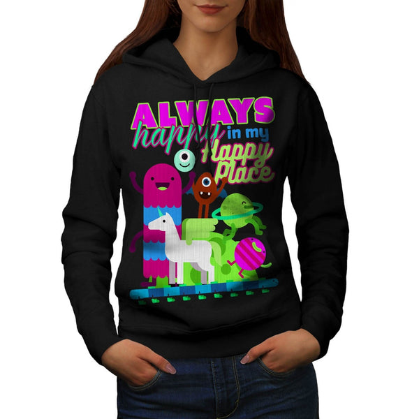 Always Happy Place Womens Hoodie
