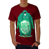 Sad Monster Buddy Mens T-Shirt