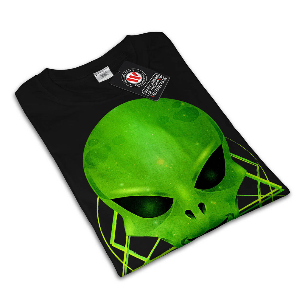 Alien Monster Smile Mens T-Shirt