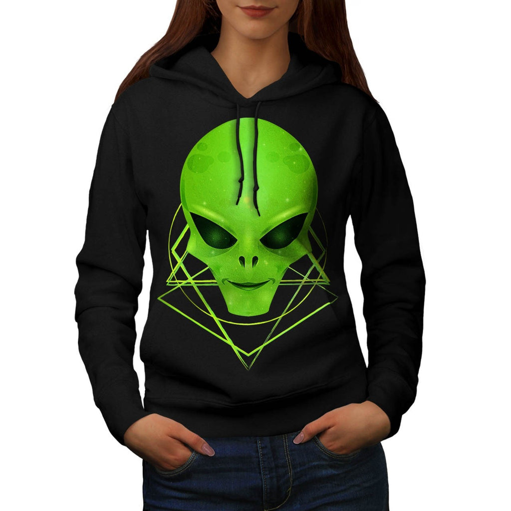 Alien Monster Smile Womens Hoodie