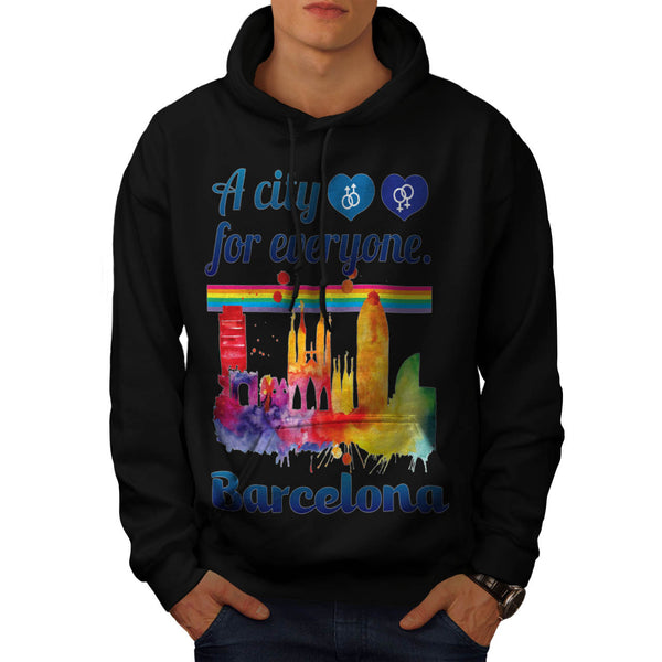 Friendly Barcelona Mens Hoodie