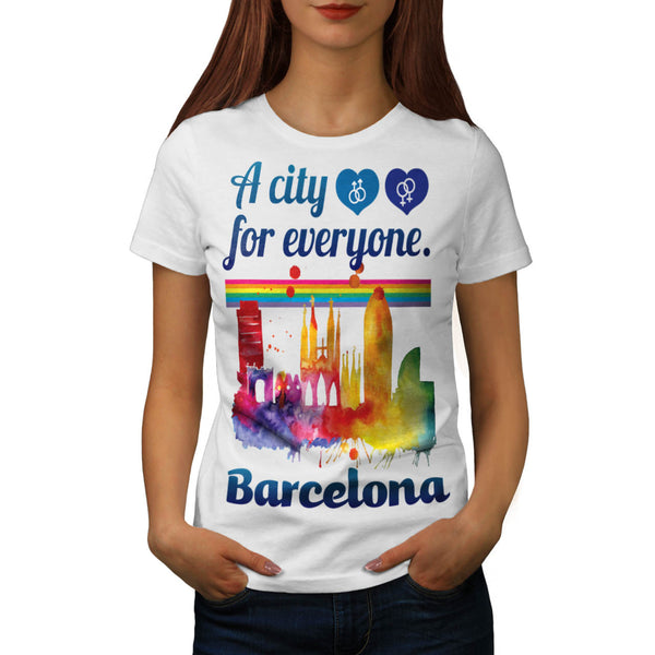 Friendly Barcelona Womens T-Shirt