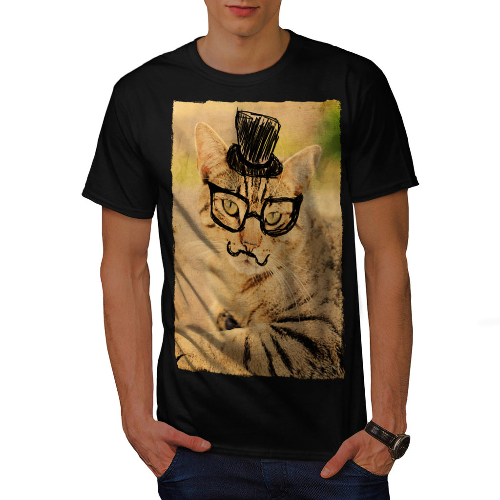 Posh Mister Kitty Mens T-Shirt