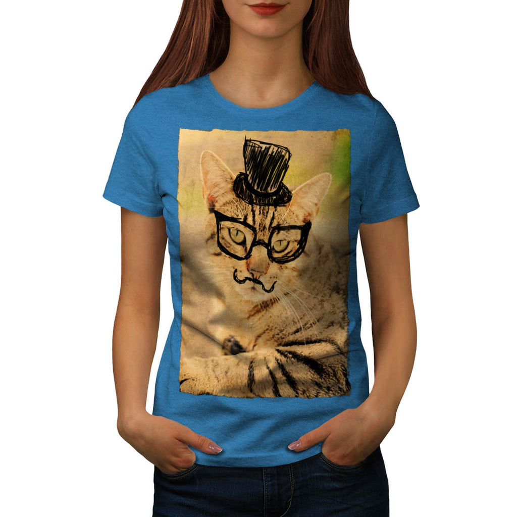 Posh Mister Kitty Womens T-Shirt