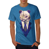 Businessman Panda Mens T-Shirt