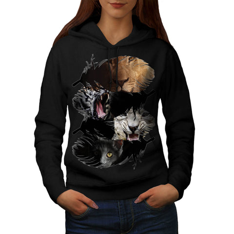 Wild Animal Family Womens Hoodie
