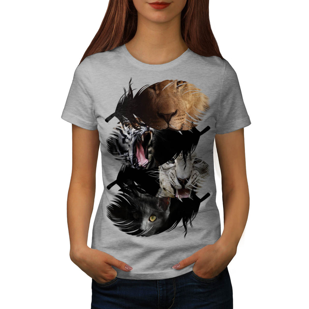 Wild Animal Family Womens T-Shirt