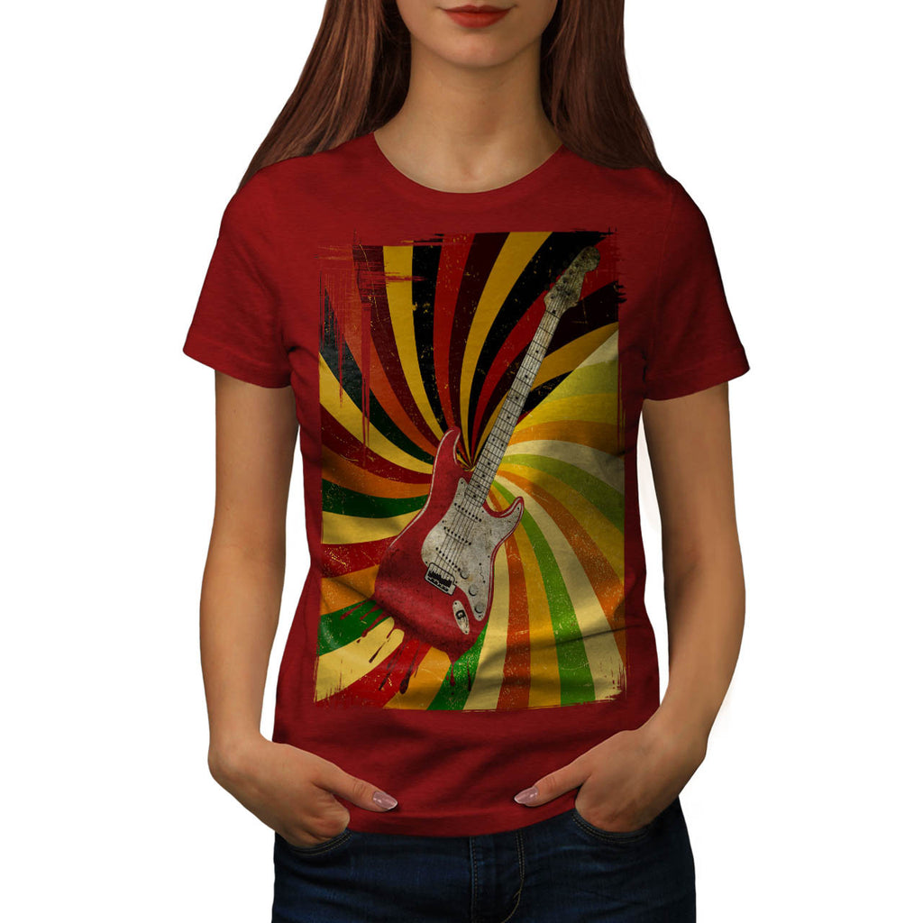 Psychedelic Guitar Womens T-Shirt
