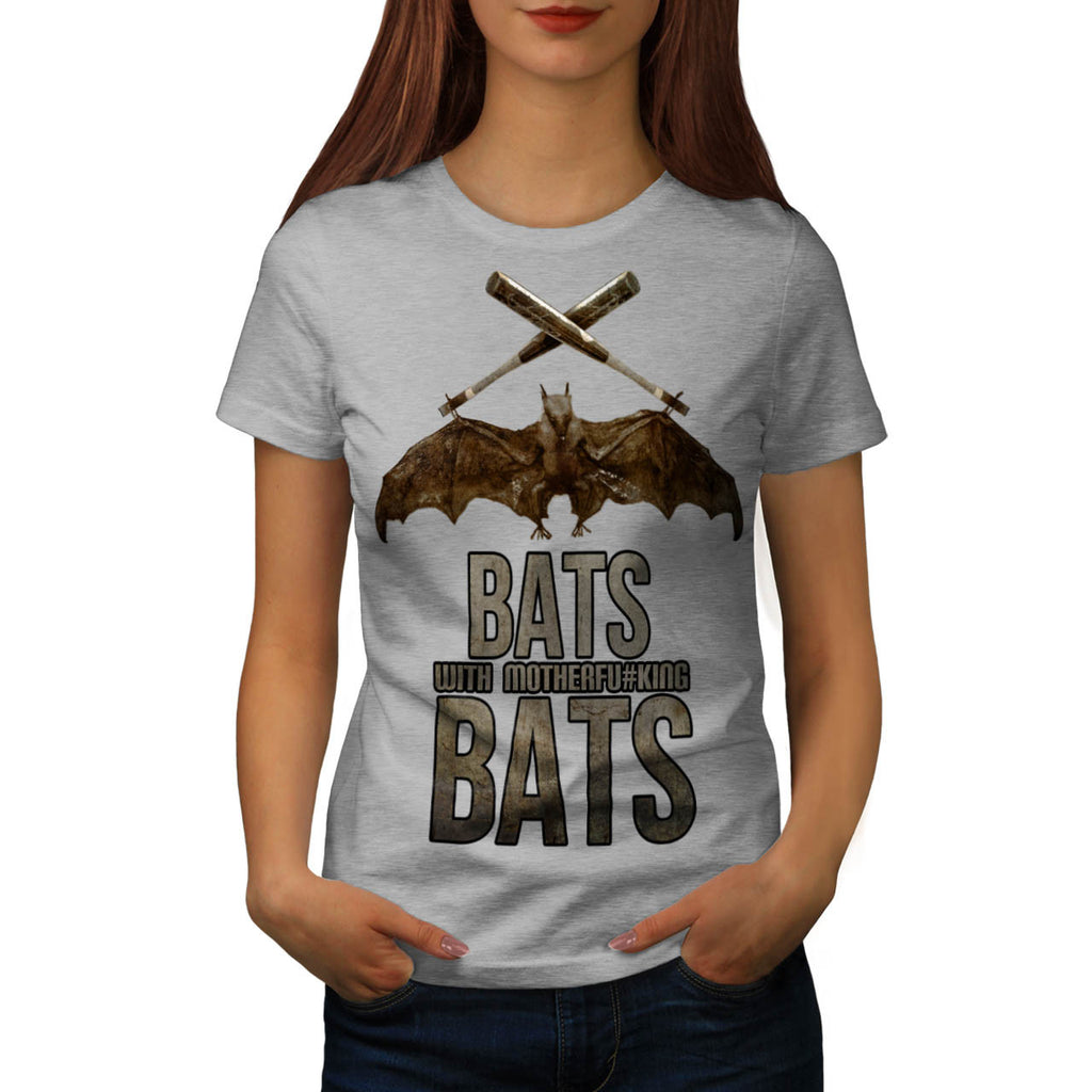 Bats Wordplay Fun Womens T-Shirt