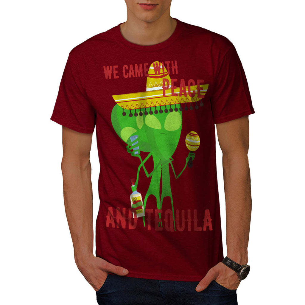 Peace And Tequila Mens T-Shirt