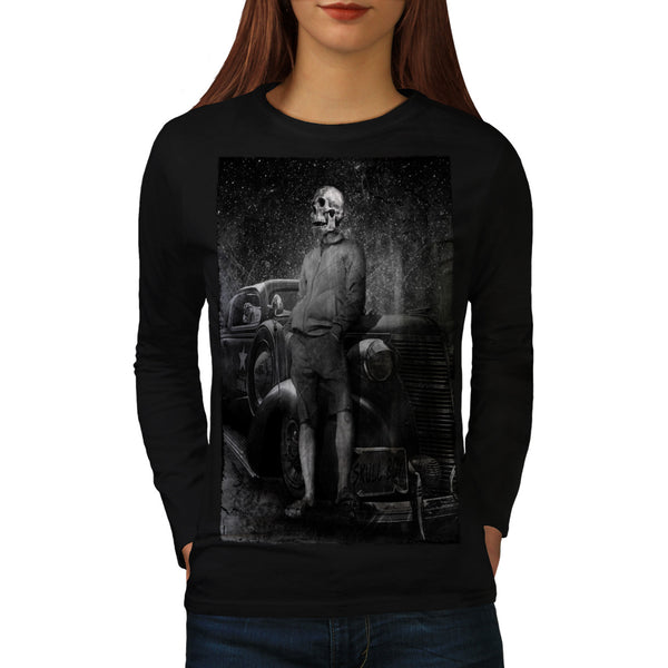 Skull Costume Body Womens Long Sleeve T-Shirt